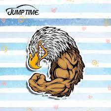 Jump Time 13cm X 10 6cm Funny Hercules Eagle Decal Car Styling Car Stickers Vinyl Cartoon Graphic Decor Car Window Bumper Trunk Aliexpress