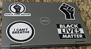 Amazon Com 4 Pack Black Lives Matter Raised Fist I Can T Breathe George Floyd Car Computer Vinyl Decal Sticker Blm 1 Kitchen Dining