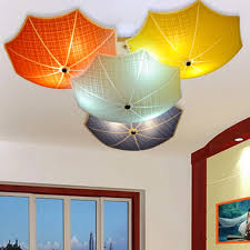 Modern Children Bedroom Ceiling Lamps Multicolour Umbrella Glass Lampshade Kids Room Lights E27 Led Lamparas 110v 220v Glass Lampshades Lampshade Kidskids Lampshades Aliexpress
