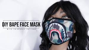 DIY Bape Face Mask #face #mask #fashion ...