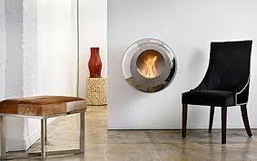 stylish round wall mounted fireplace