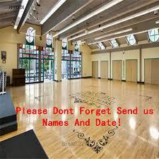 Joyreside Wedding Personalized Name Floor Decal Wedding Party Decor Art Decals Vinyl Sticker Custom Date Dance Floor Decal A1736 Bemmengurun
