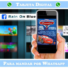 Rain On Blue Invitaciones Digitales Posts Facebook