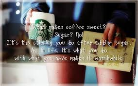 what makes coffee sweet silver quotes