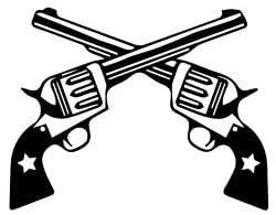 Amazon Com Western Revolver Gun Vinyl Decal Sticker Black Automotive