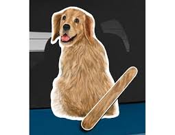 Golden Retriever Dog Rear Window Wiper Wagging Tail Sticker Etsy