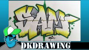 how to draw graffiti names sam 3