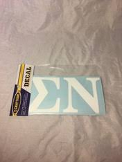 Sigma Nu Fraternity White Car Letters 3 1 2 Inches Brothers And Sisters Greek Store