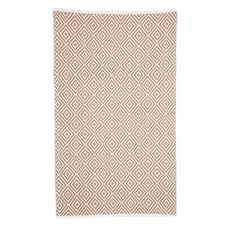 kimberly beige small cotton rug 60x90cm