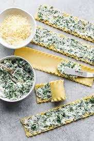 spinach lasagna roll recipe