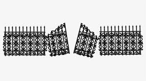 Iron Fence With Broken Gate Clip Arts Broken Gate Clipart Hd Png Download Kindpng