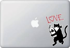 The Decal Store Com By Yadda Yadda Design Co Clr Mb Cat Graffiti Artist Love Or Meow Vinyl Car Decal Copyri