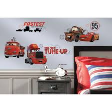 Roommates 5 In X 11 5 In Red Disney Pixar Cars 3 15 Piece Peel And Stick Wall Decals Rmk3353scs The Home Depot