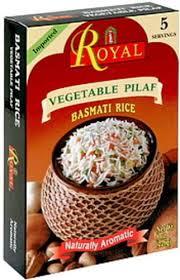 royal vegetable pilaf 8 oz basmati rice