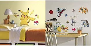 Roommates Pokemon Pikachu Peel And Stick Wall Decals And Roommates Pokemon Xy Peel And Stick Wall Decals Amazon Com