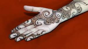 simple modern front hand mehndi design