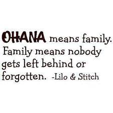 Ohana Means Family Disney Lilo And Stitch Quote Vinyl Wall Decal Decor Sticker Ebay