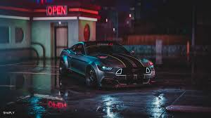 ford mustang gt neon harmony 4k
