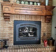 fireplace mantel vintage shelf