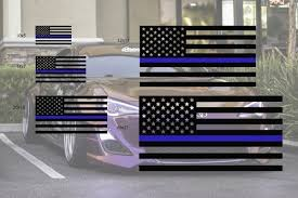 Universal Fit Window Flag Thin Blue Line Premium Auto Styling