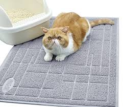 Vivaglory Cat Litter Box Mat, BPA & Phthalate Free, Durable Kitty ...