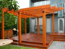 how to stain a wood pergola best deck