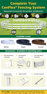 Cenflex 5 In X 660 Ft Black Flexible Rail Horse Fence 381053 At The Home Depot Horse Fencing Fence Horses
