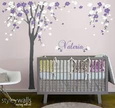 Cherry Blossom Tree Wall Decal Nursery Wall Decal Baby Room Decor Styleywalls On Artfire