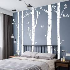 Large Birch Tree Wall Decal Forest Bird Vinyl Wall Stickers Decor Living Room Bedroom Kids Nursery Room Peel And Stick Removable Wish