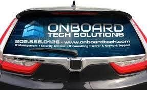 Custom Rear Window Graphics Signs Com