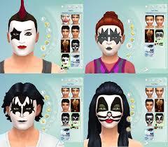 mod the sims face paint kiss rock