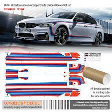 Bmw M Performance Motorsport Side Stripes Decals Set For F80 M3 F82 M4 Ebay