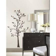 Roommates 5 In X 19 In Mod Tree Peel And Stick Giant Wall Decals Rmk2365gm The Home Depot