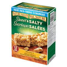 salty chewy granola bars peanut