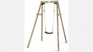 plum wooden double swing set toy