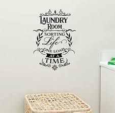 Amazon Com Laundry Room Sorting Life Out One Load At A Time Vinyl Wall Words Decal Sticker Graphic Handmade