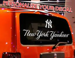 Yankees Logo Rear Window Decal Sticker 24 W X 14 Ebay