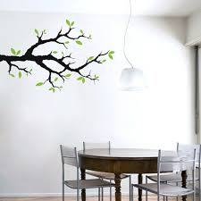Tree Branch With Leaves Wall Decals