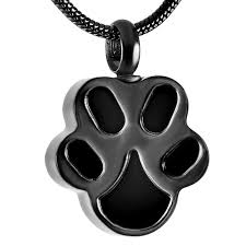 rose gold black dog paw stainless steel