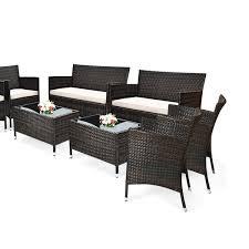 off on 8pcs rattan patio furniture s