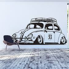 Herbie Beatle Vw Car Vinyl Wall Art Decal