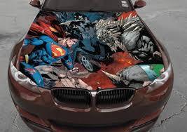 Vinyl Car Hood Full Color Graphics Decal Superman Doomsday Man Etsy