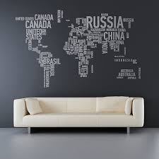 World Map Wall Decal For A Travel Nursery Mad For Mid Century