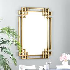 gold wall mirror antique rope effect