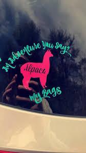 Custom Color Alpaca Car Decal Alpaca Adventure Car Sticker Phone Case Decals Wine Glass Decals Custom Decals