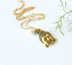 simplicity buddha pendant gold plated