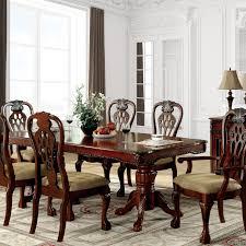 Shop Furniture Of America Harper 7 Piece Formal Cherry Dining Set Overstock 20831060