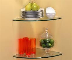 curve glass corner shelf 24 x 24
