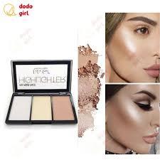 3 colors highlighter palette makeup