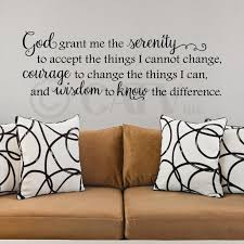 God Grant Me The Serenity To Accept The Things I Cannot Change Vinyl Lettering Wall Decal Sticker Walmart Com Walmart Com